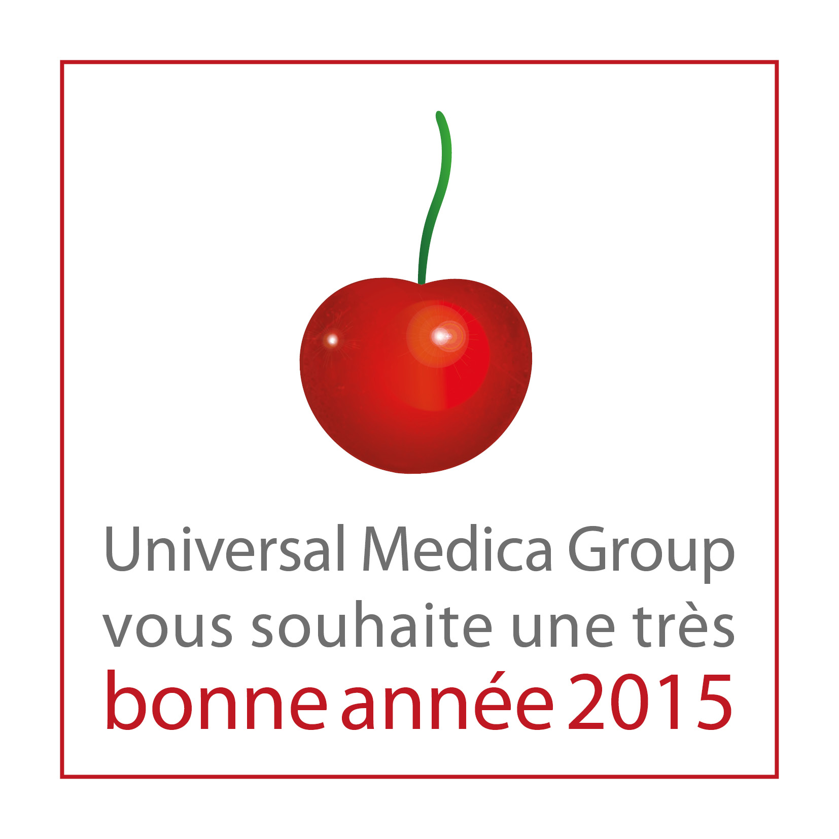 voeux 2015 universal medica group|universal medica group|cherry for lifescience